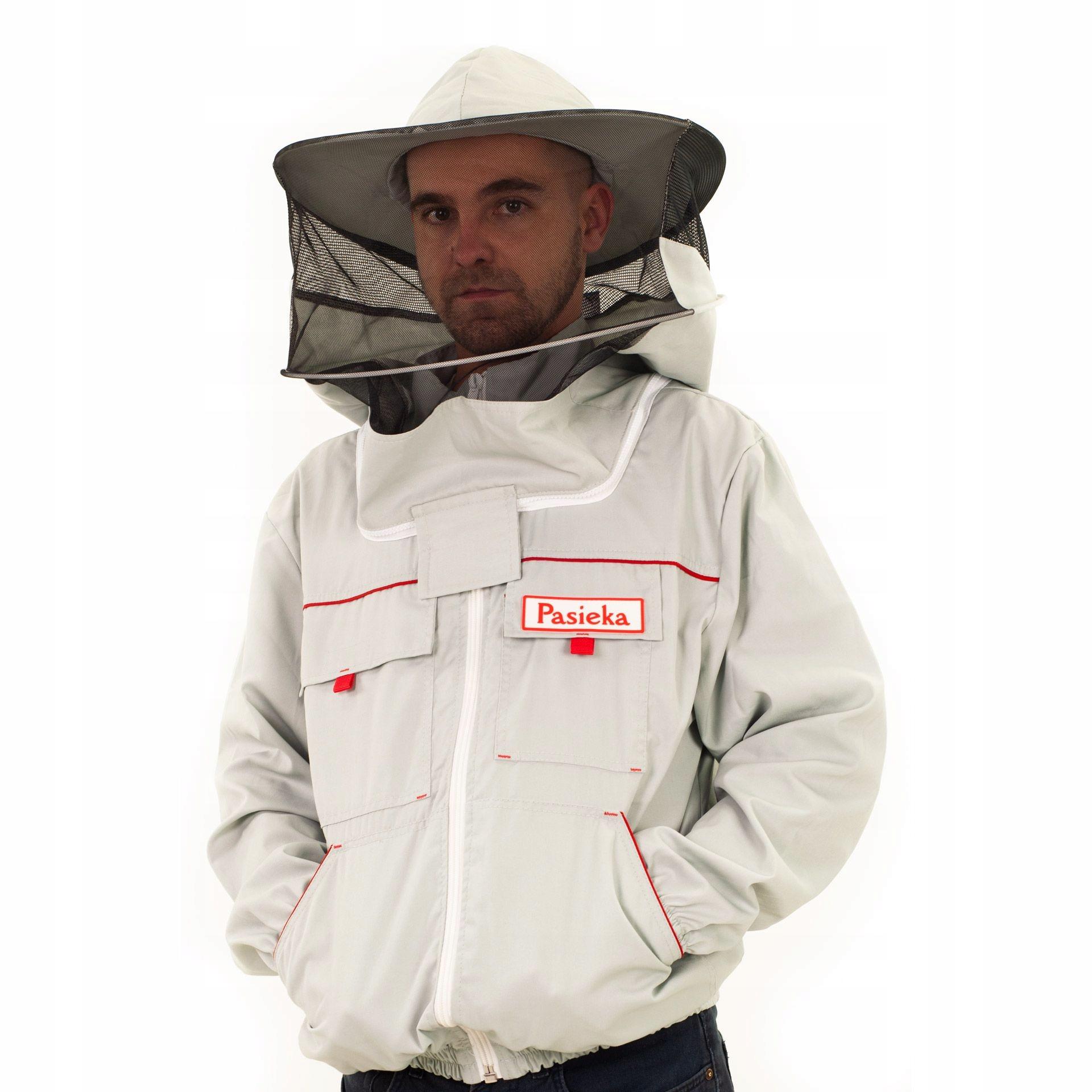 Bluza pszczelarska rozpinana z kapeluszem roz XL