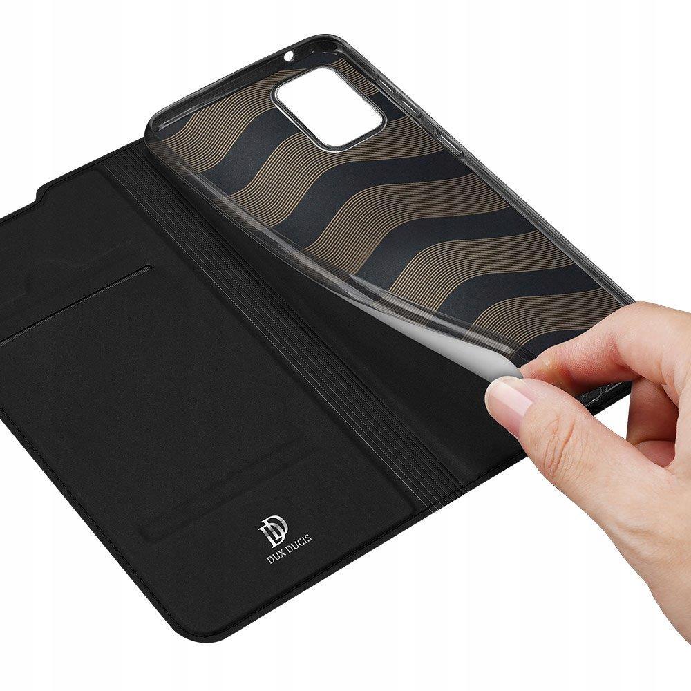 Etui DUX DUCIS + szkło do Samsung S20 FE Czarny Materiał skóra ekologiczna