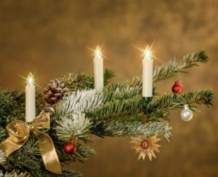 Sviečky na vianočný stromček retro LED SVETLÁ 15 bez KÁBLA