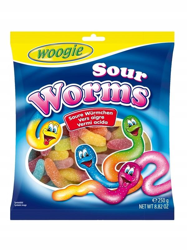 Купить Woogie Worms фруктово-кислые мармеладки земляные черви 250 г на Otpravka - цены и фото - доставка из Польши и стран Европы в Украину.