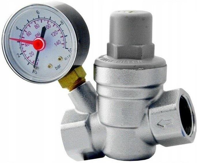 Редуктор давления воды 3/4 с манометром