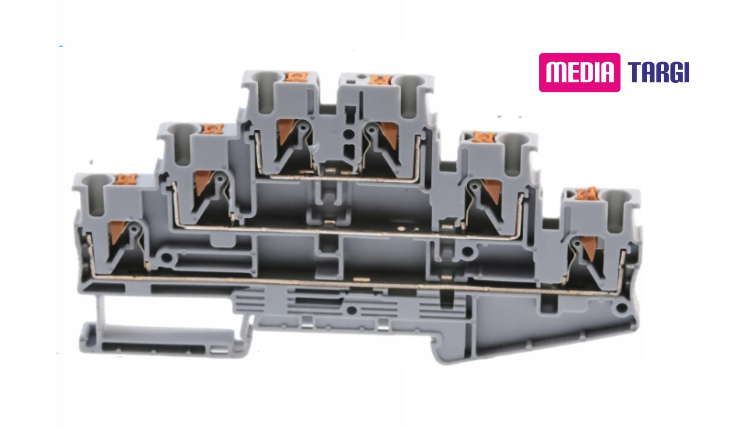 3-х этажный соединитель 2,5 мм для DIN-рейки Wago