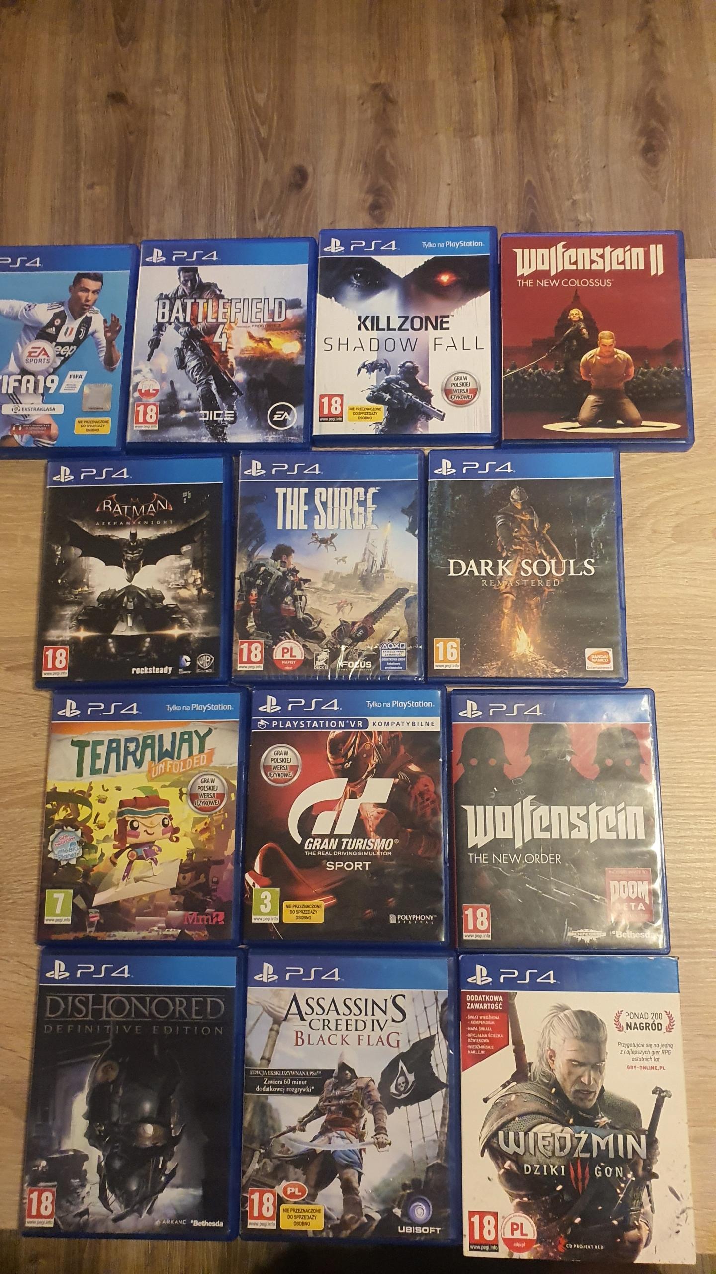 Item Zestaw 13 gier na konsole PlayStation 4 BCM