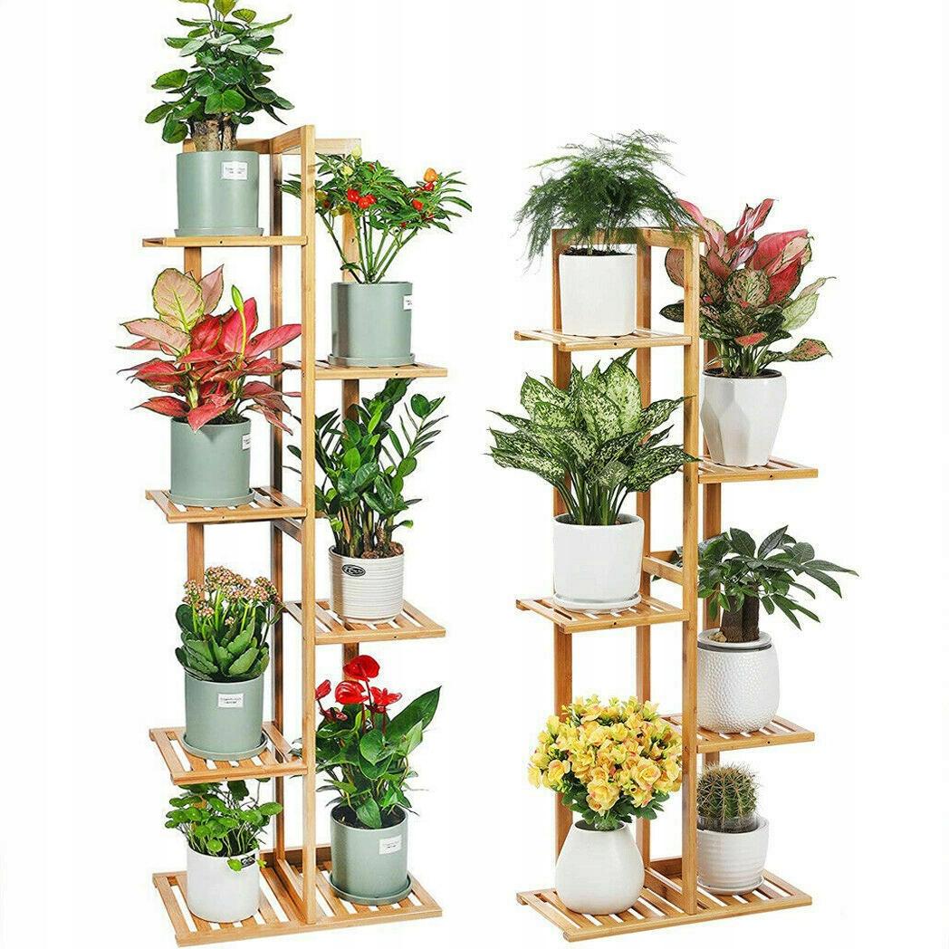 Деревянная клумба-подставка на 6 цветов