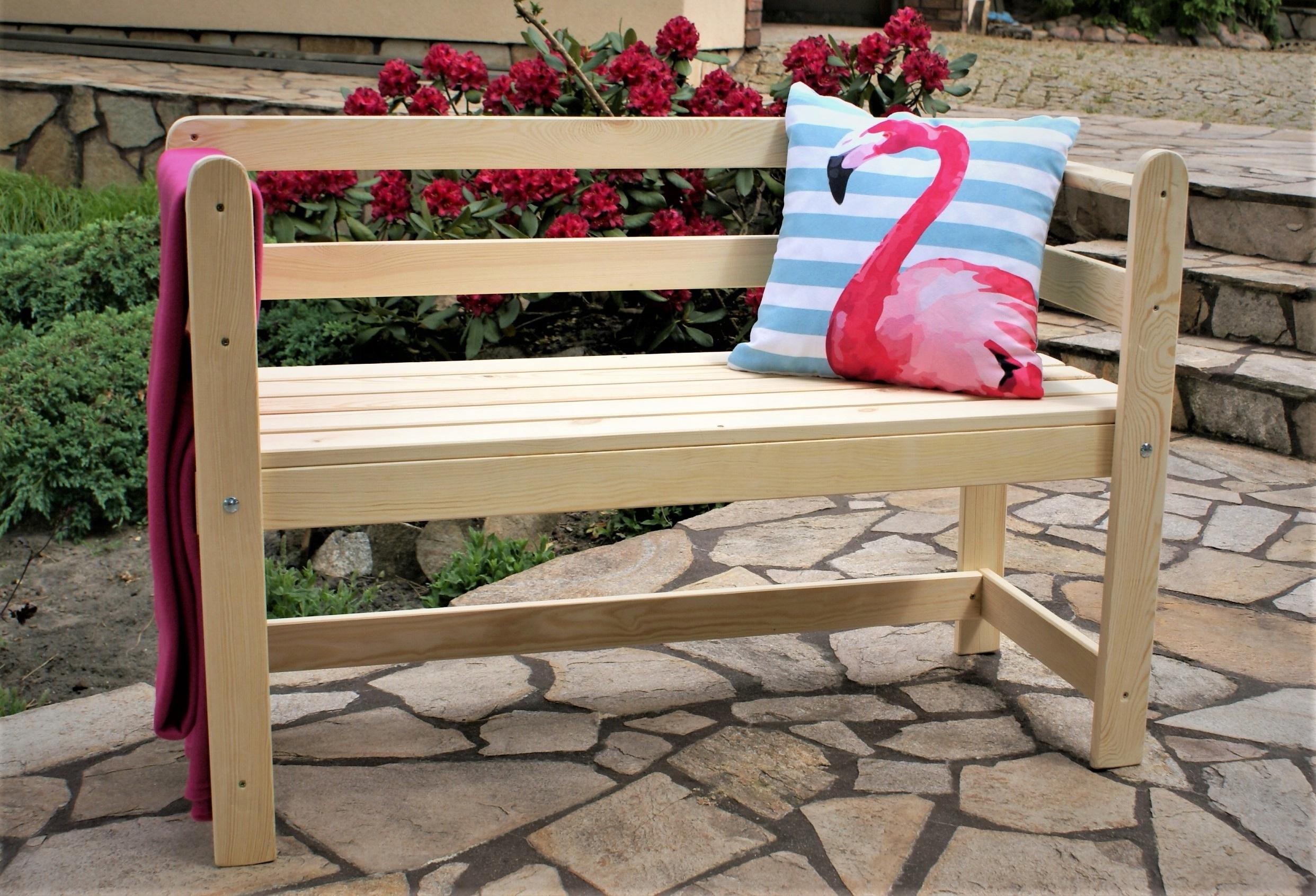 2-miestna drevená záhradná lavica masívny gril Garden Bench Line