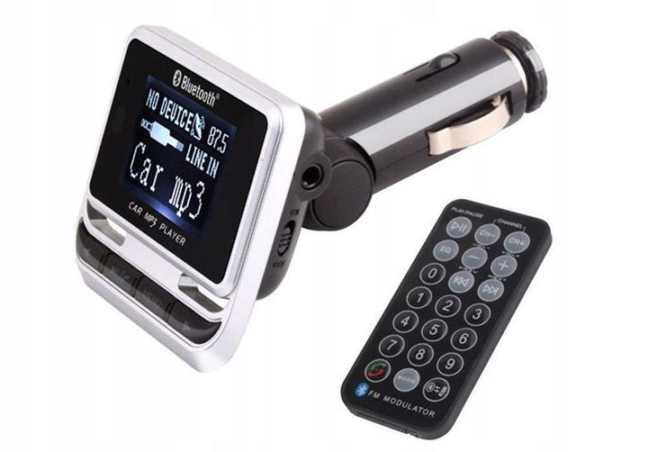 Transmiter samochodowy FM Bluetooth USB z pilotem EAN 2019090611285