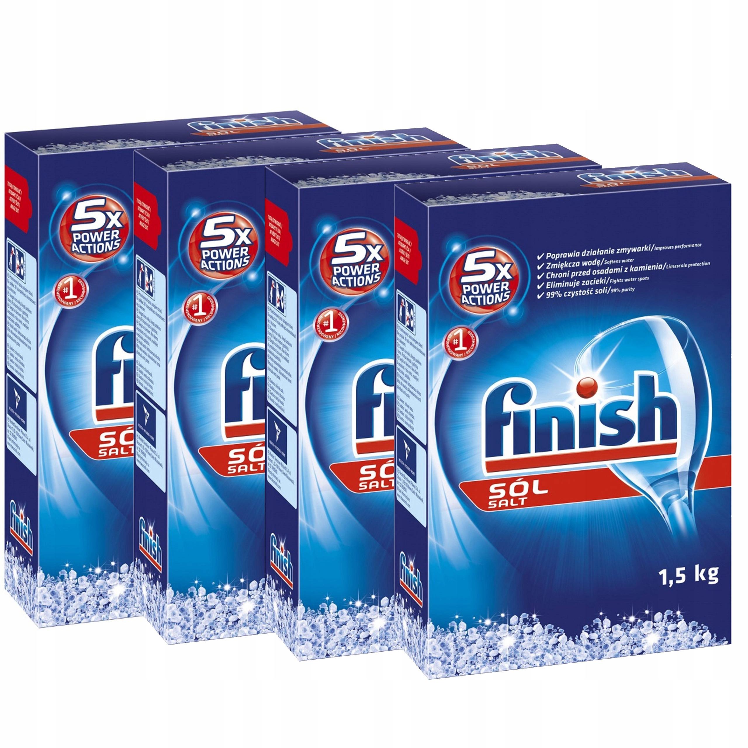 Finish Соль для Посудомоечной машины для Смягчения Воды 4х1,5КГ