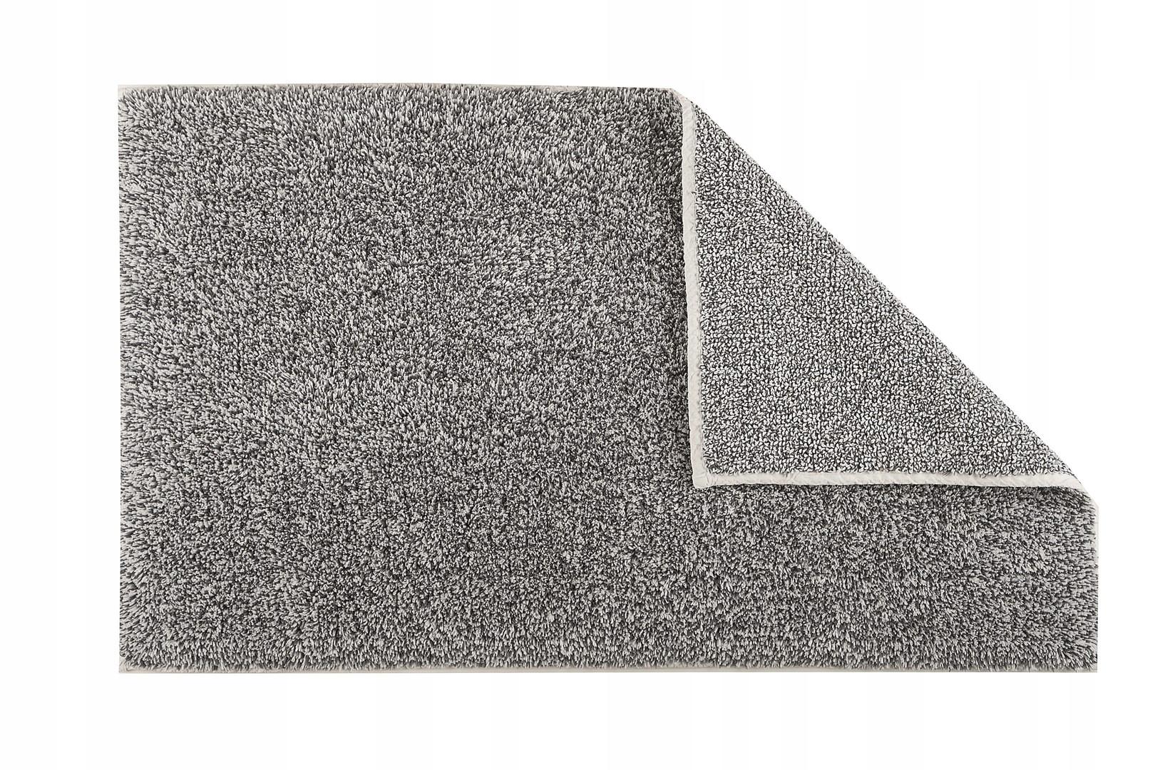 Sivý kúpeľňový koberec, 50x80 cm