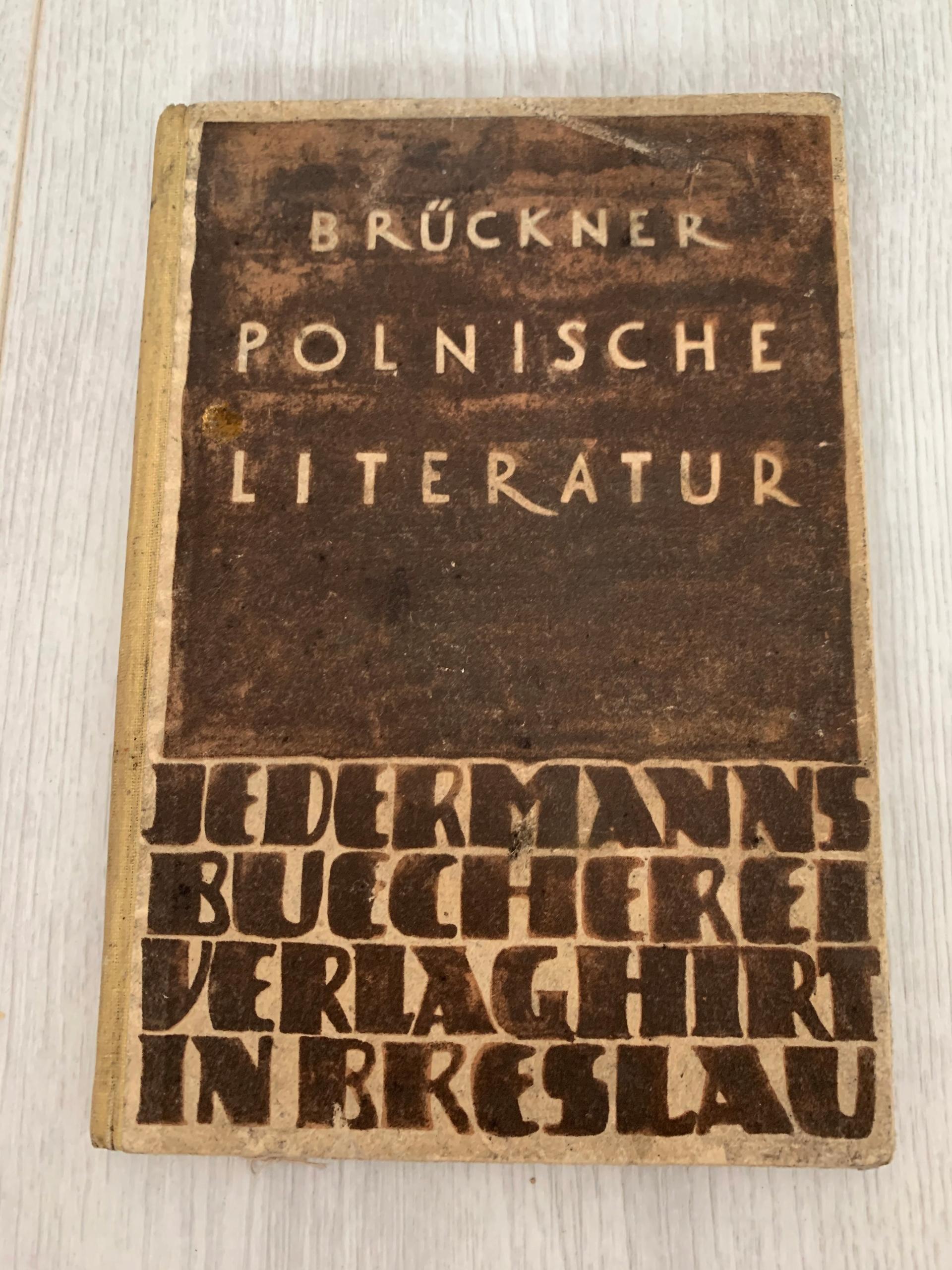 BRUCKNER POLNISCHE LITERATUR BRESLAU 1922 WROCŁAW