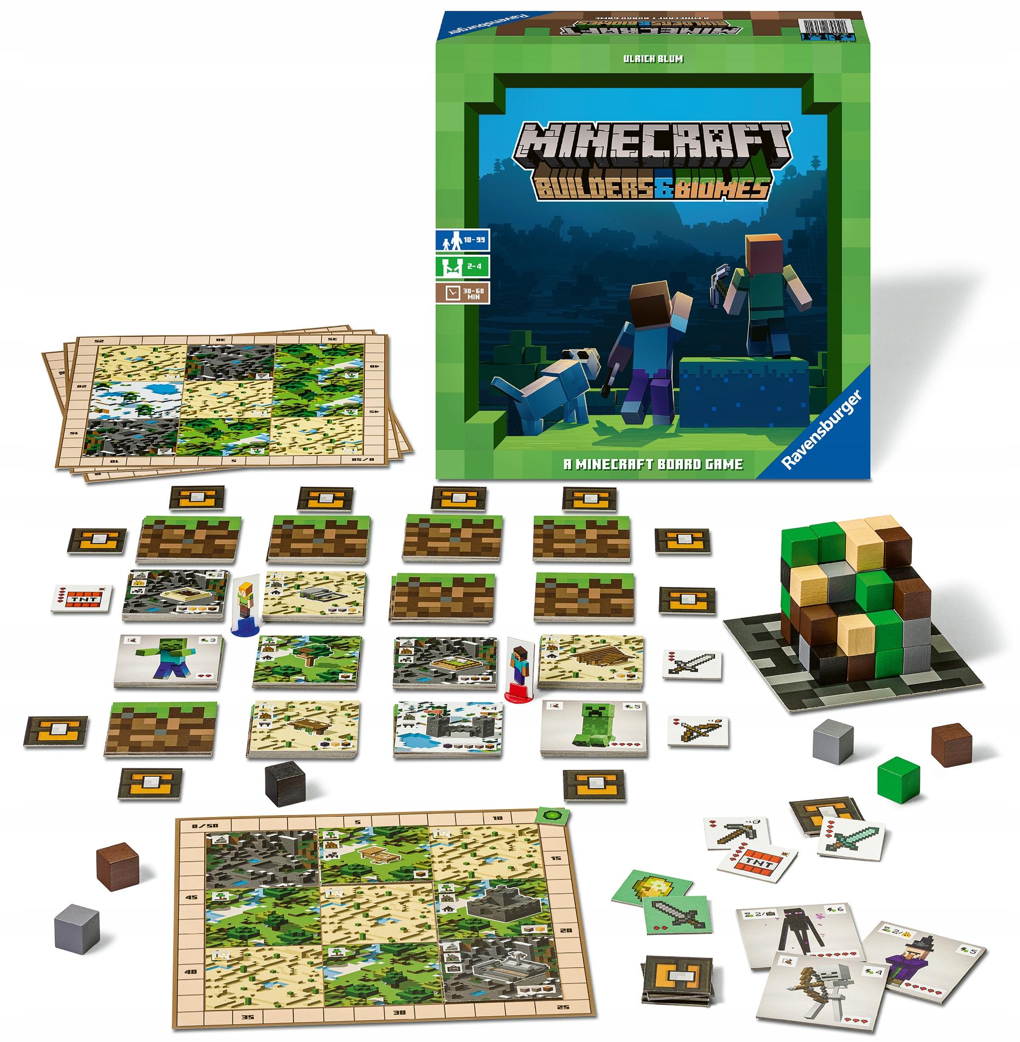 Minecraft Gra Planszowa Builders Amp Biomes 8727140578 Allegro Pl
