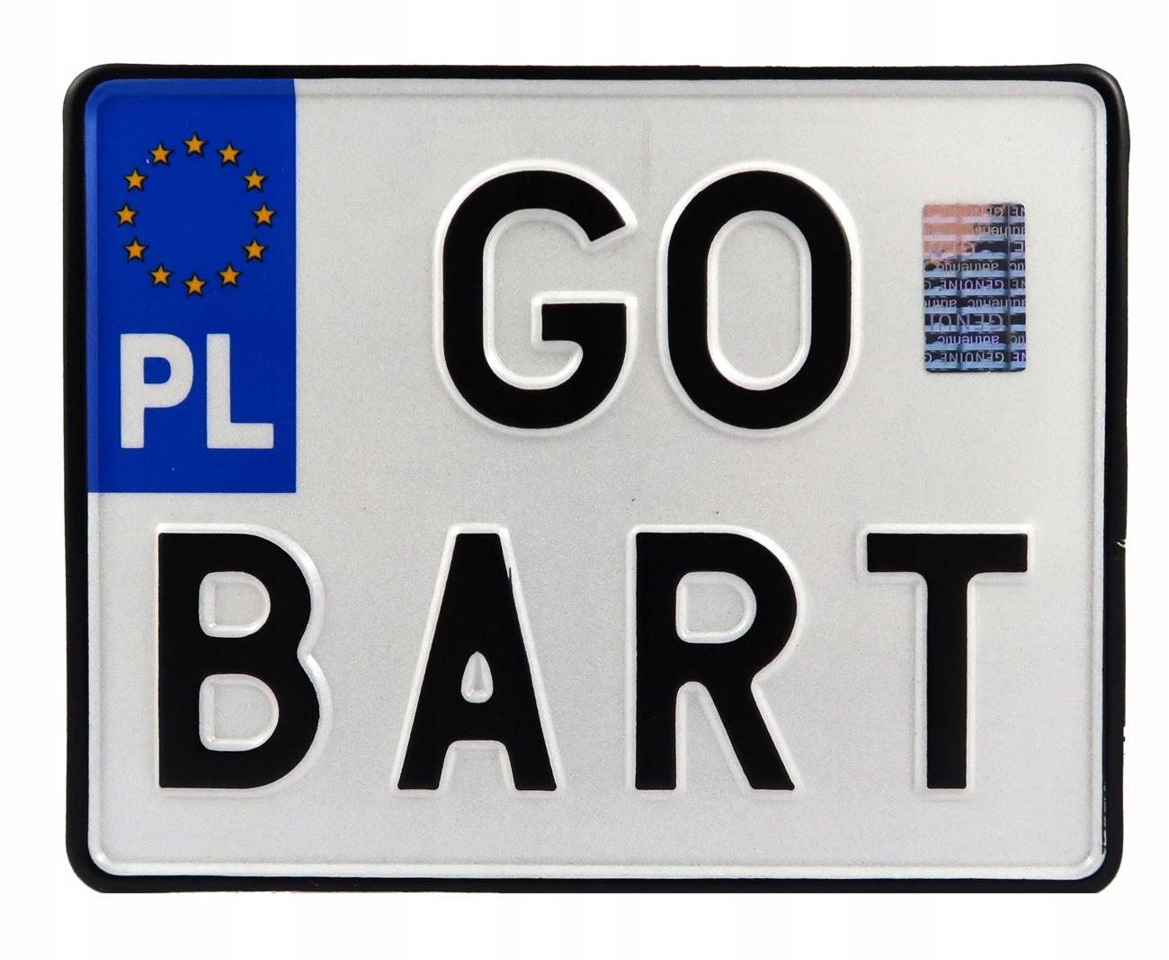 Польская мотоциклетная табличка для регистрационной рамки