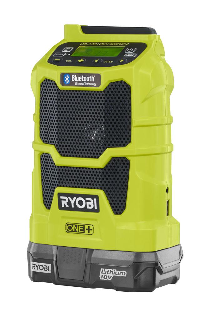 Ryobi radio z technologią Bluetooth R18R-0
