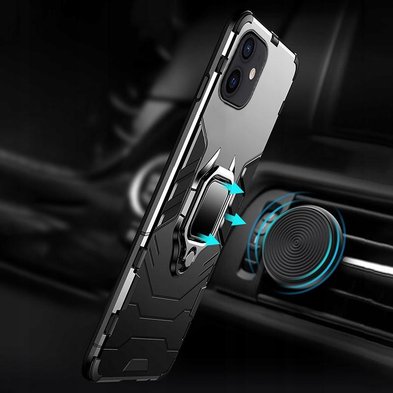 Etui do iPhone 12 Mini Pancerne Ring Case + Szkło Przeznaczenie Apple