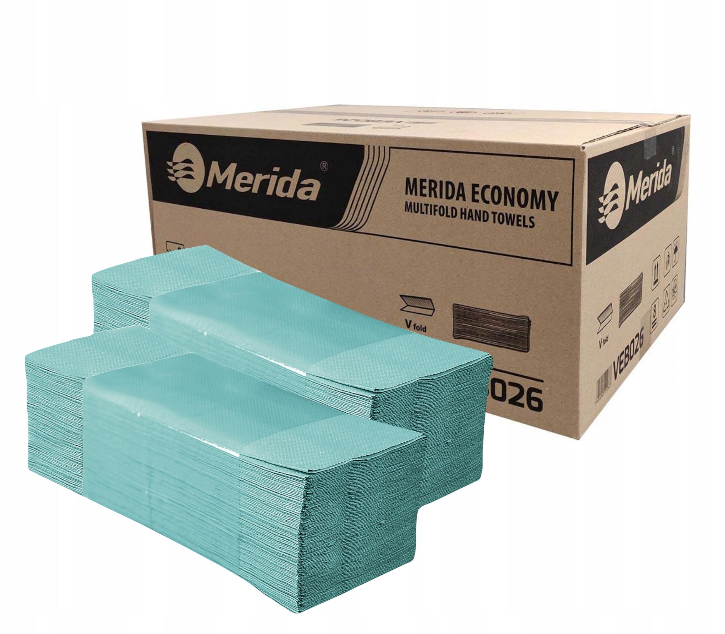 MERIDA Бумажные полотенца с зелеными 4000шт.