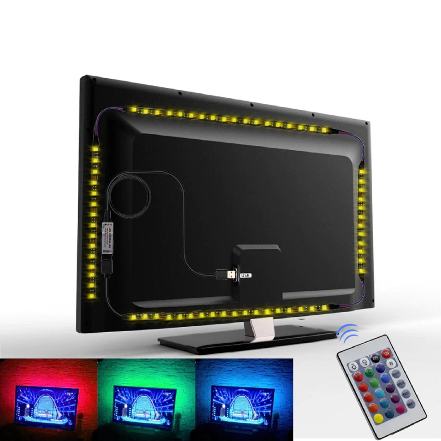 LED TV RGB TAPE 5V USB 1M Podsvietenie + PILOT Typ LED pásky