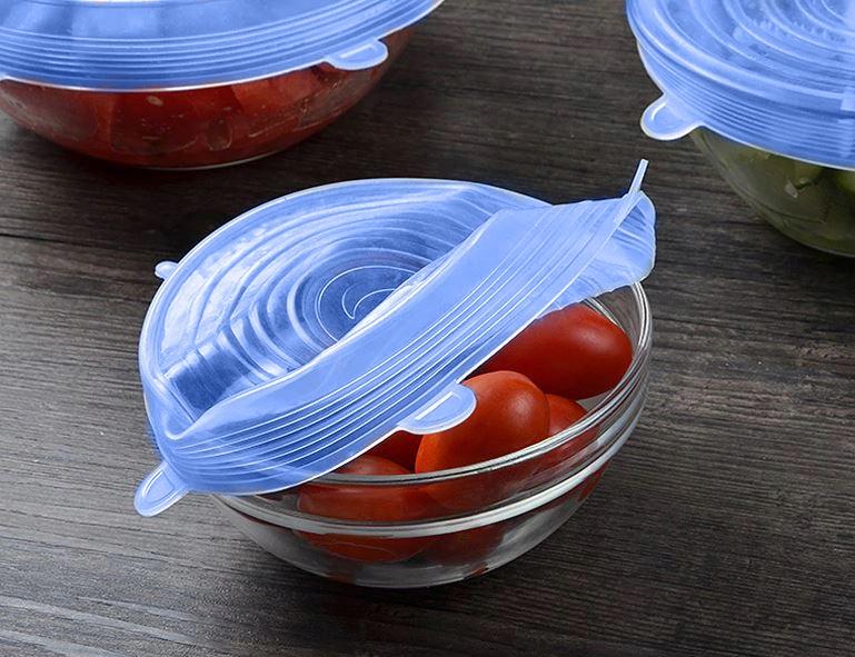 Pokrywki Silikonowe Uniwersalne do Żywności 6szt Kod producenta 12273
