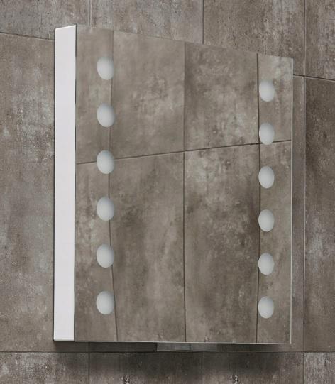 Lustro Miior/Newmi ACT.60 58x60cm z LED wysuwane Wykonanie gotowe