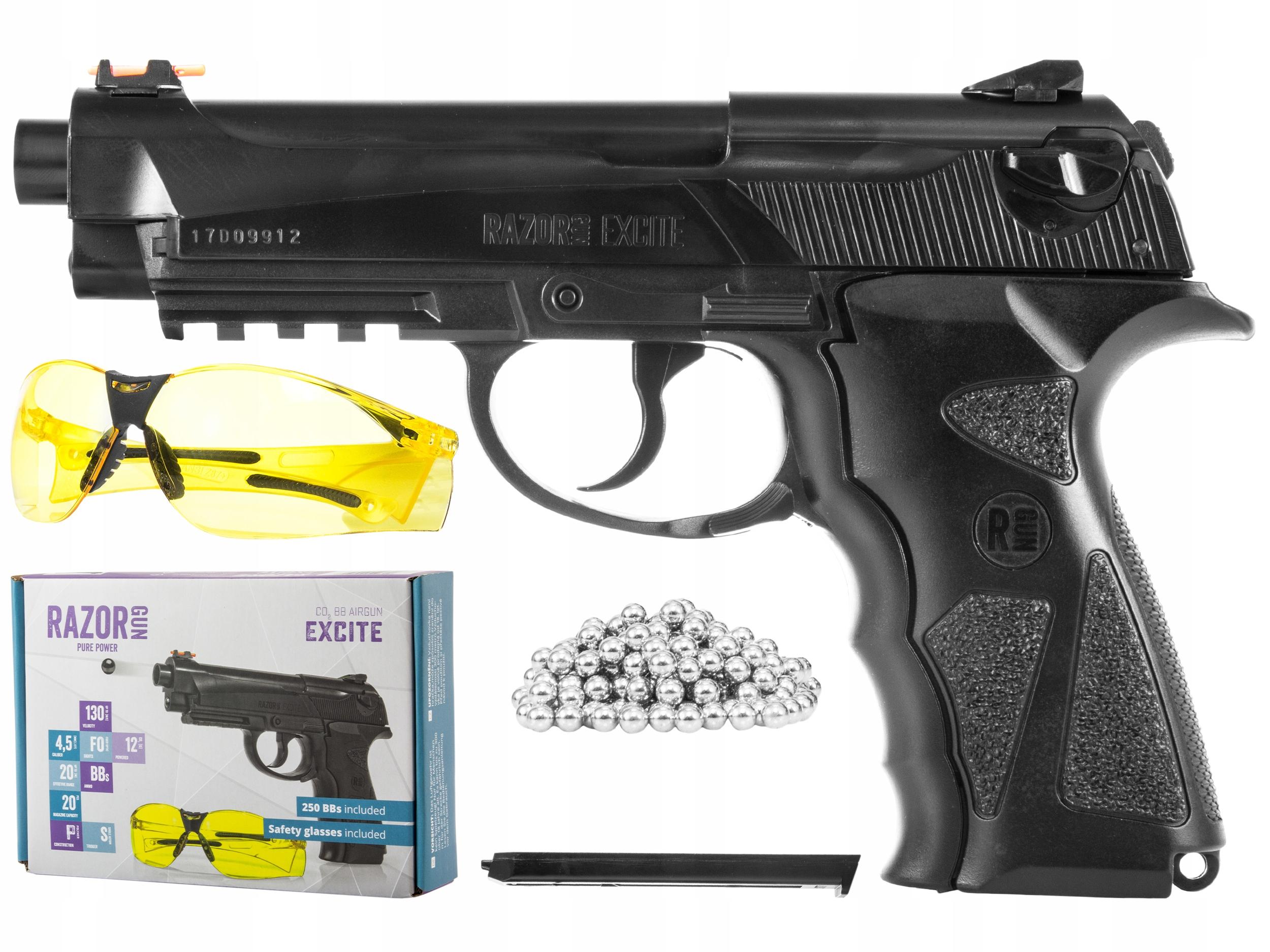 Пневматический пистолет RazorGun Excite 4,5 мм BB с СО2