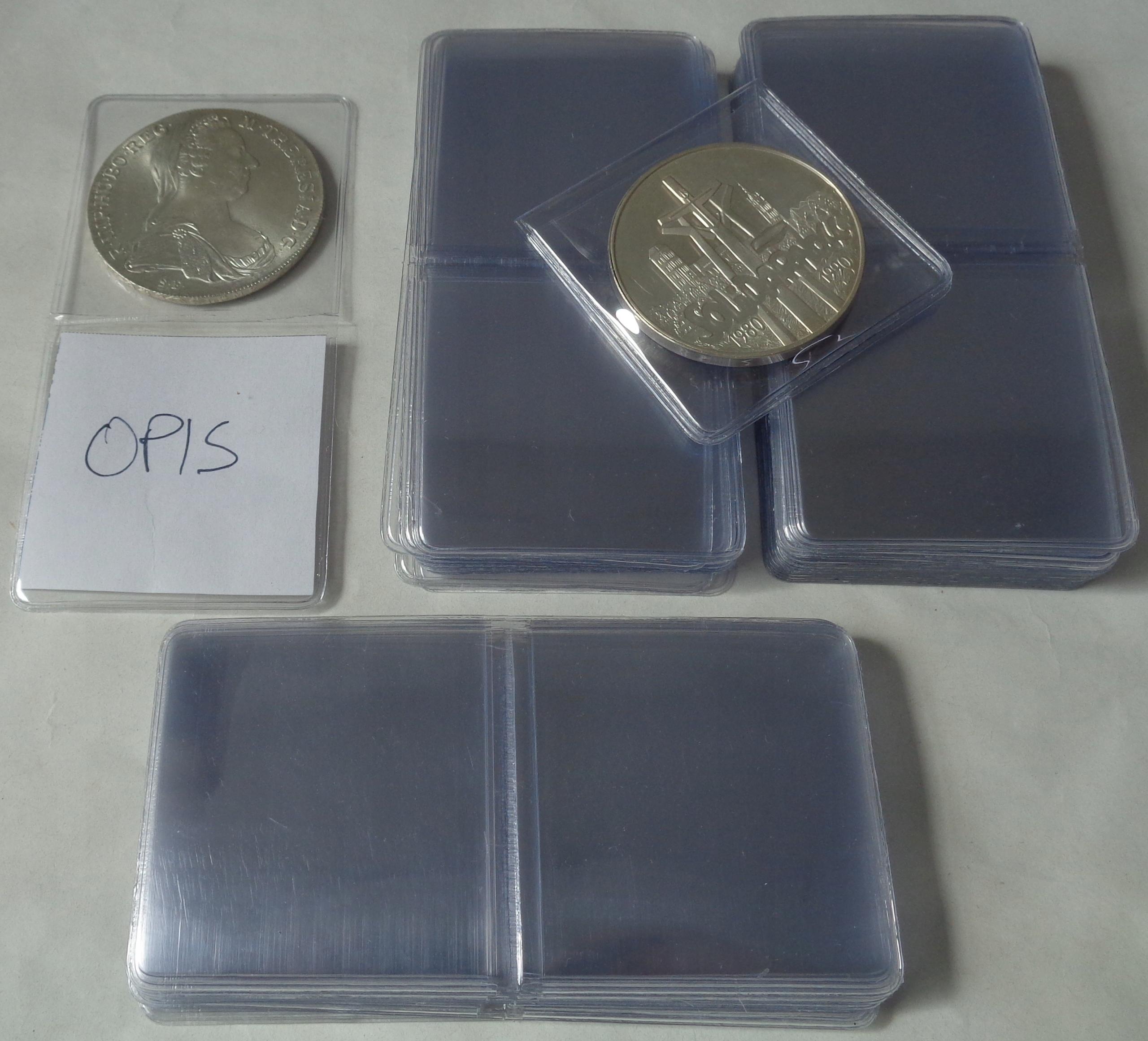 50 x Holder / Kieszonka na Monetę - Kolekcjoner