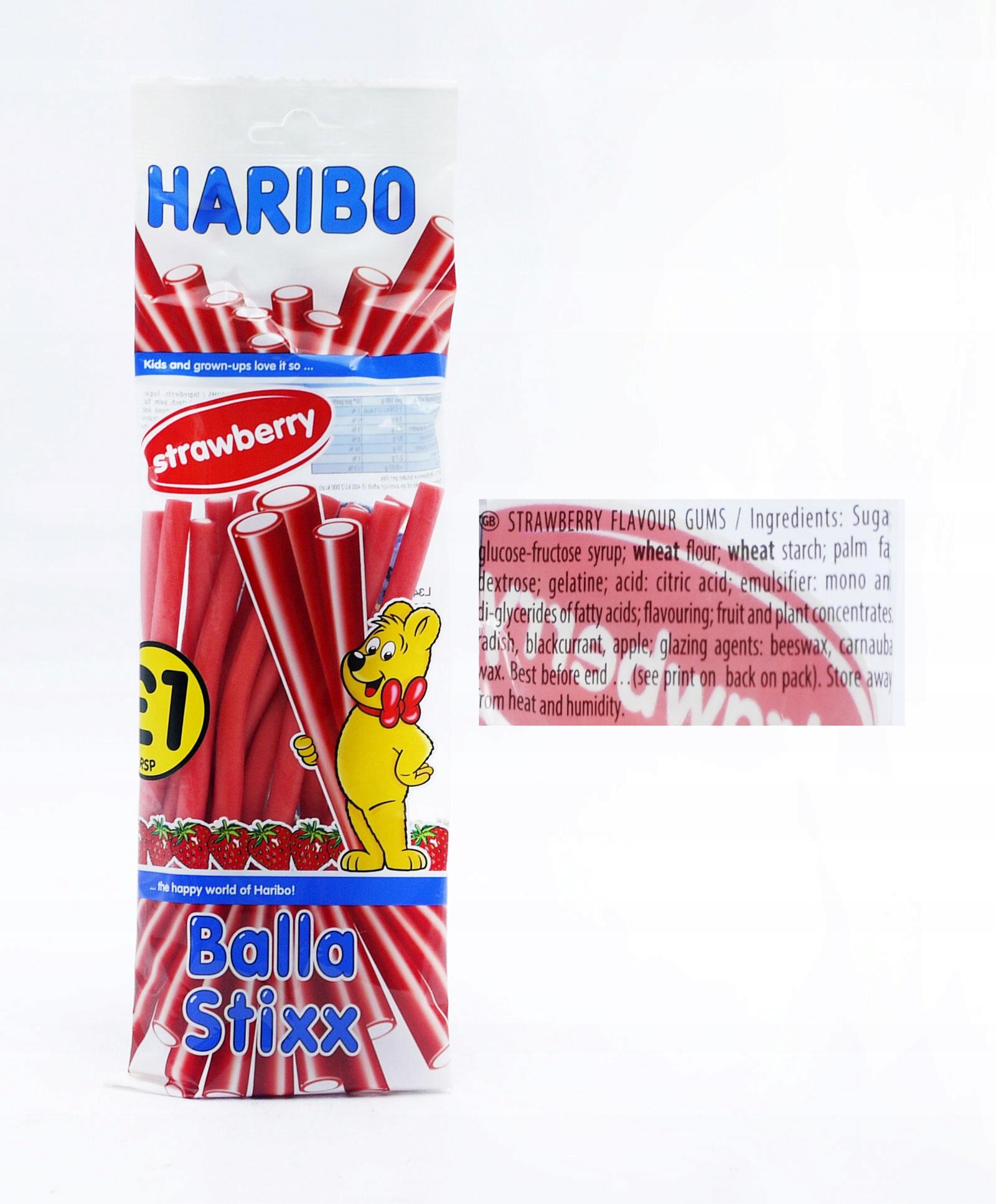 Купить Haribo STIXX Гелевые карандаши Strawberry 140g UK на Otpravka - цены и фото - доставка из Польши и стран Европы в Украину.