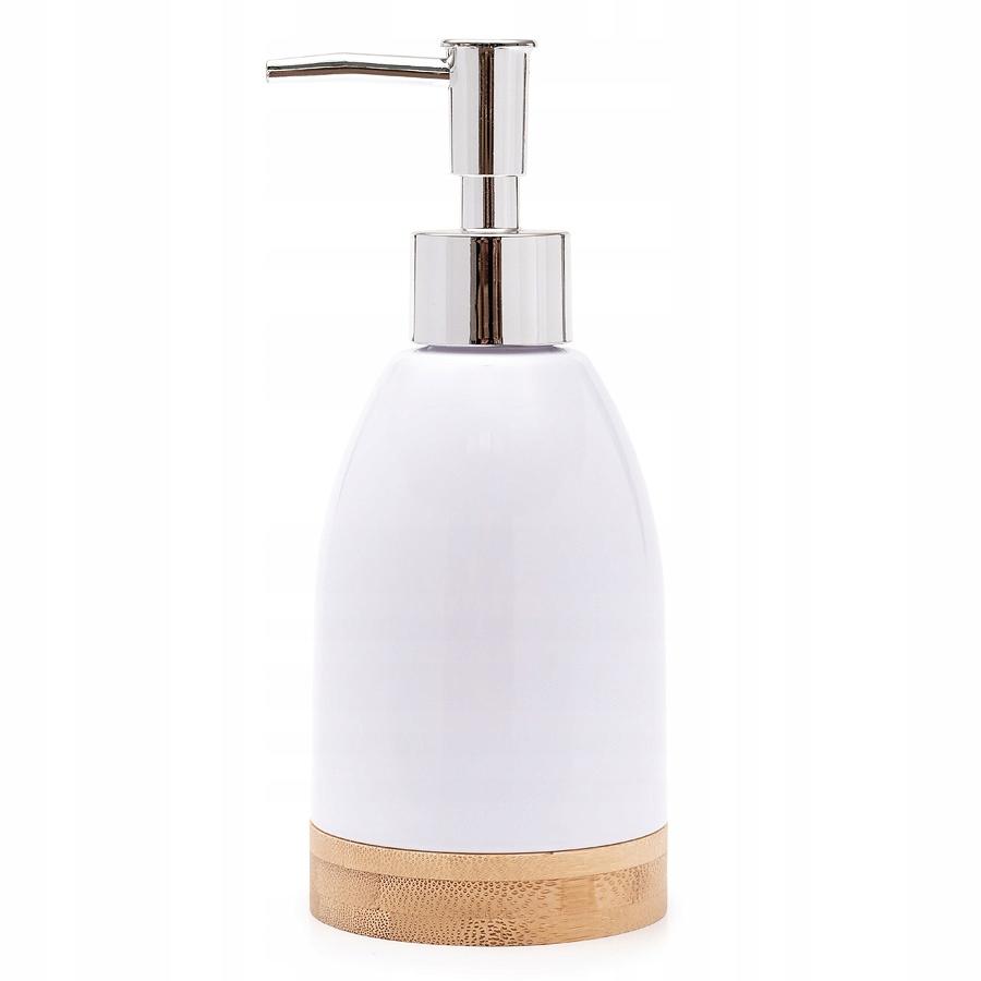 Дозатор мыла CLASSIC белый БАМБУК
