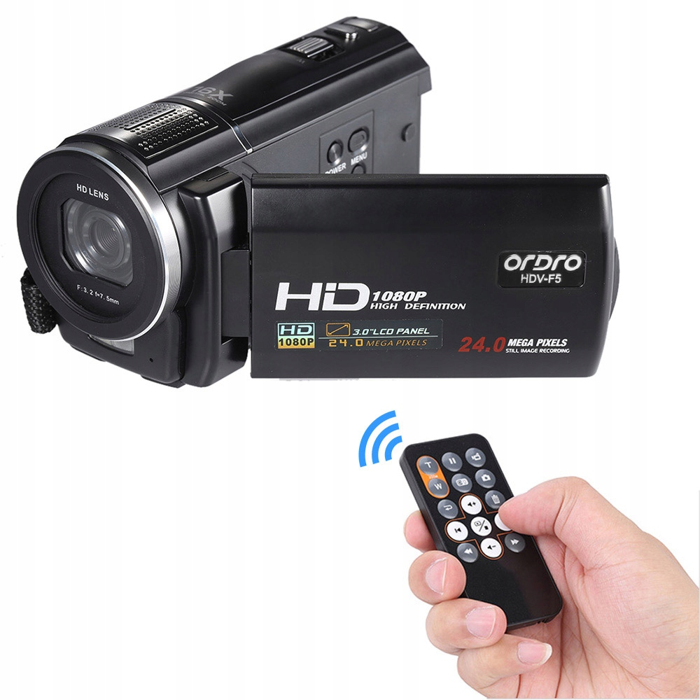 Ordro Cyfrowa kamera wideo rejestrator DV Dvr