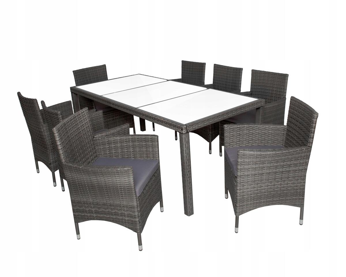 Садовая мебель на 8 человек.Комплект стульев + стол.