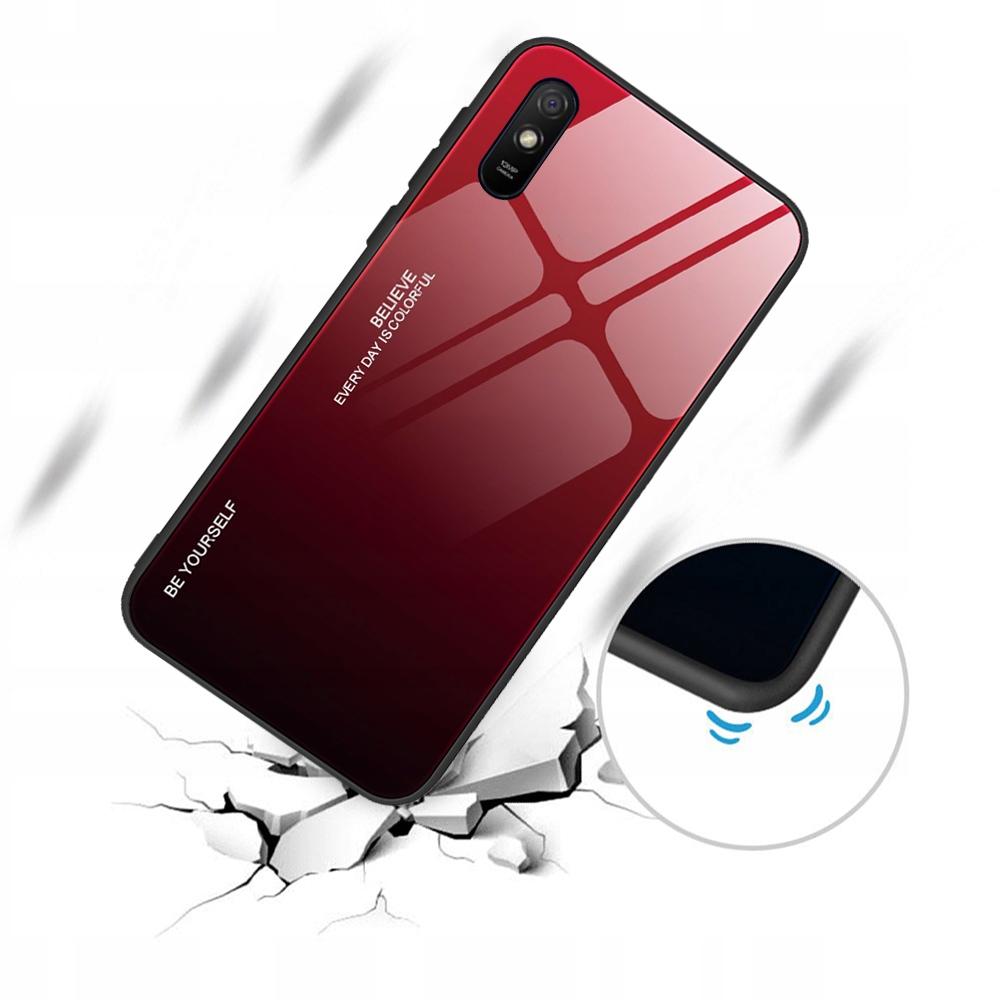 Etui do Xiaomi Redmi 9A Case Glass + Szkło 9H Dedykowany model Xiaomi Redmi 9A