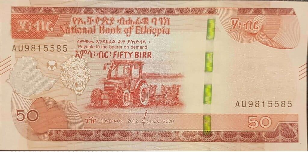 Etiopia 50 Birr Traktor Ursus 2020 P-54