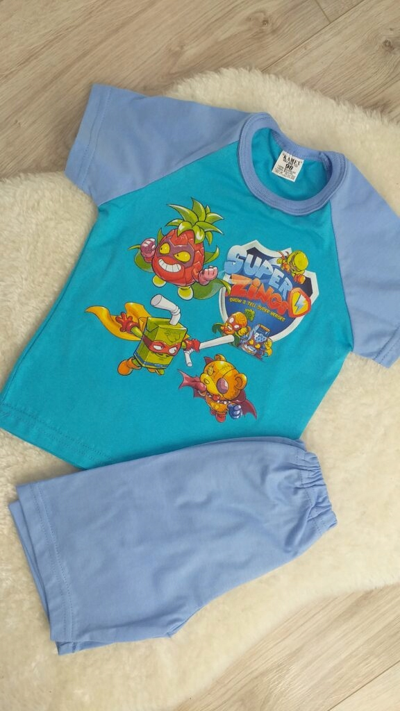 Detské pyžamo s krátkym rukávom Super Zings 98