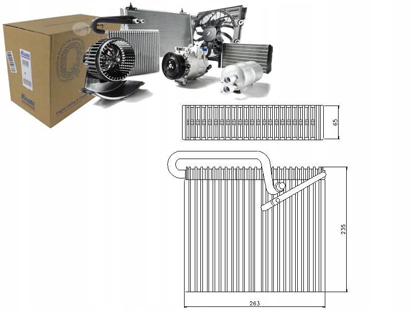 испаритель кондиционирования воздуха opel astra g delvan 17 dti