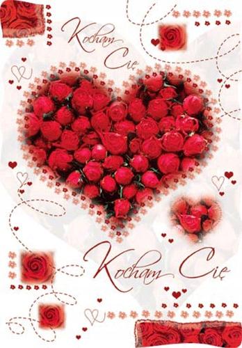 Walentynkowe kartki pocztowe dla zakochanych PVL4