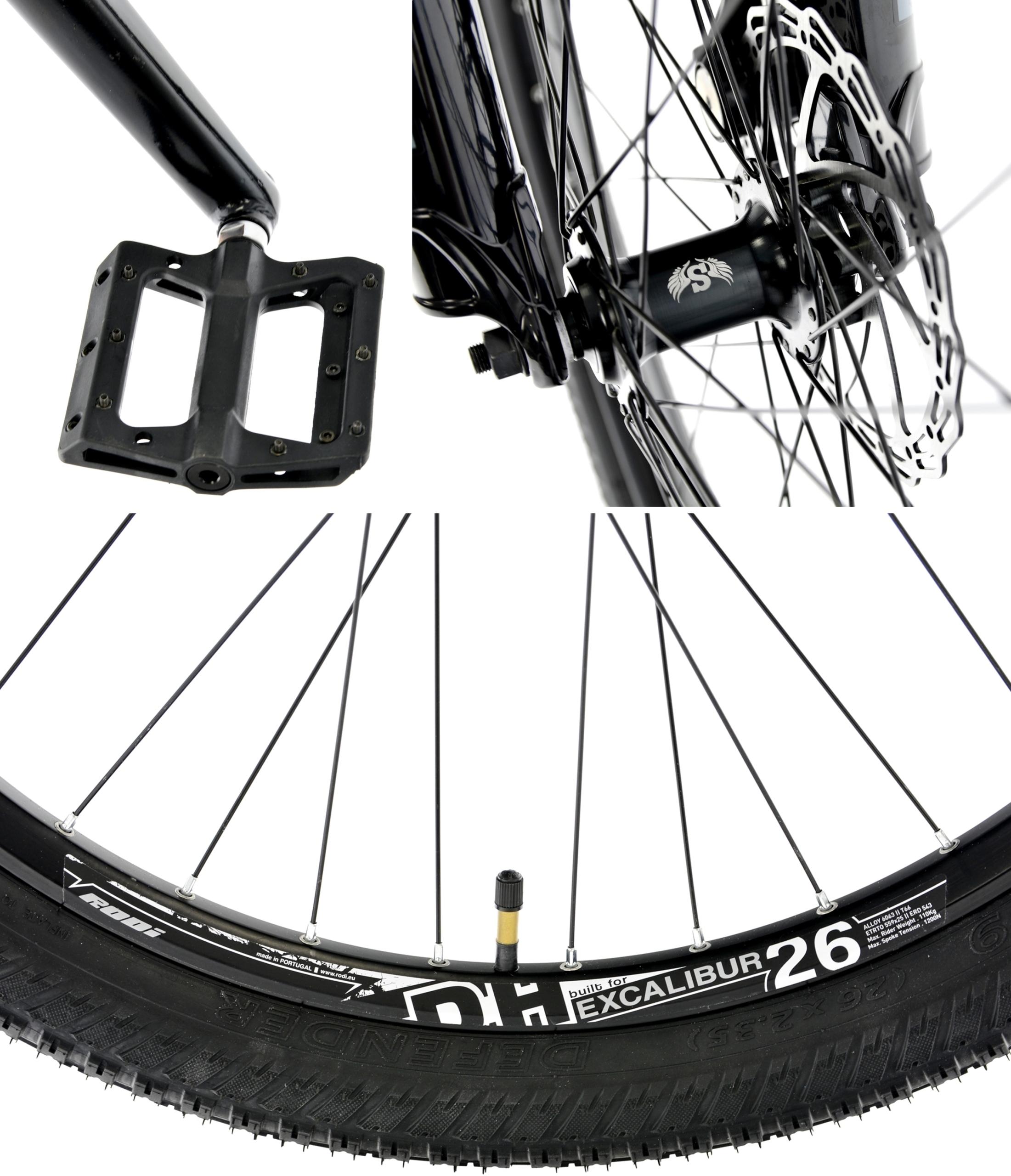 Rower Kands 26 DIRT COLT V2 13 CZARNY R21 Pedały platformowe