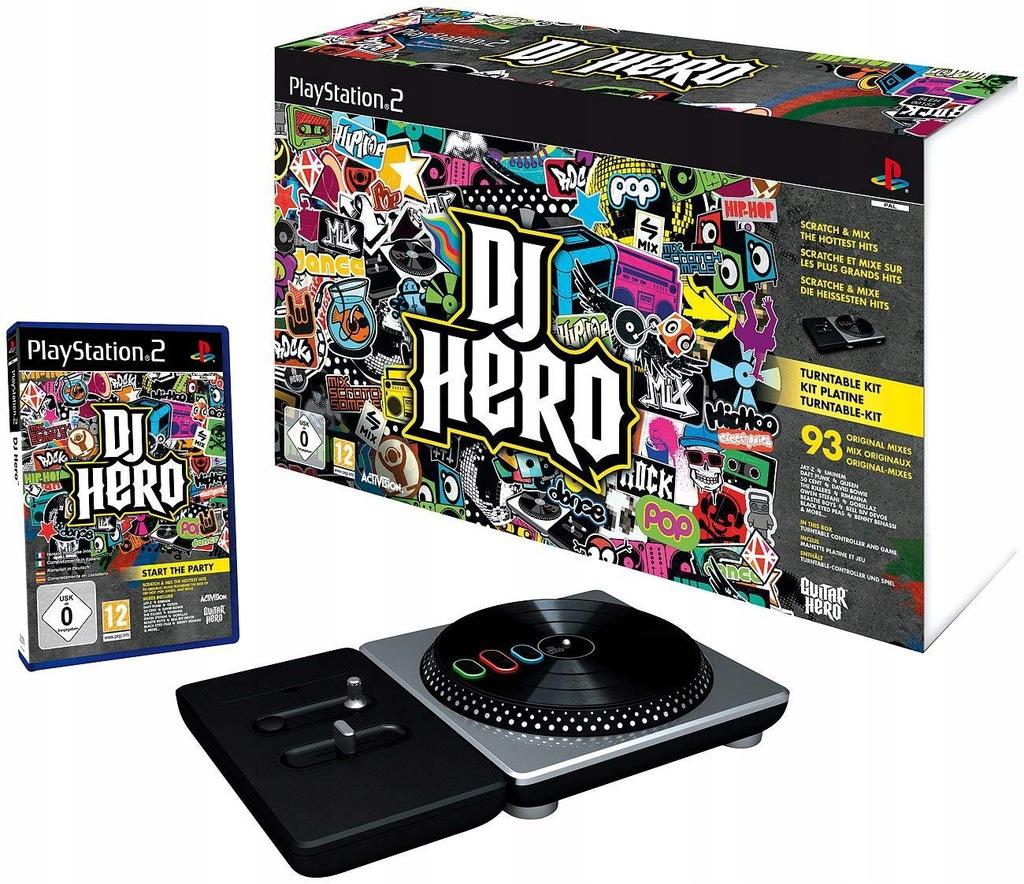 Pôvodný DJ HERO pre PLAYSTATION 2 PS2 Film ZMIEŠAVAČ