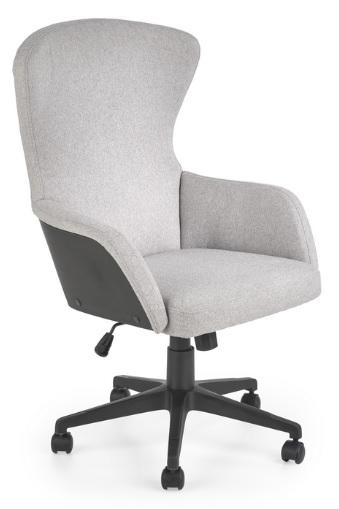 Fotel Biurowy DOVER Szary Krzesło Obrotowe Uszak