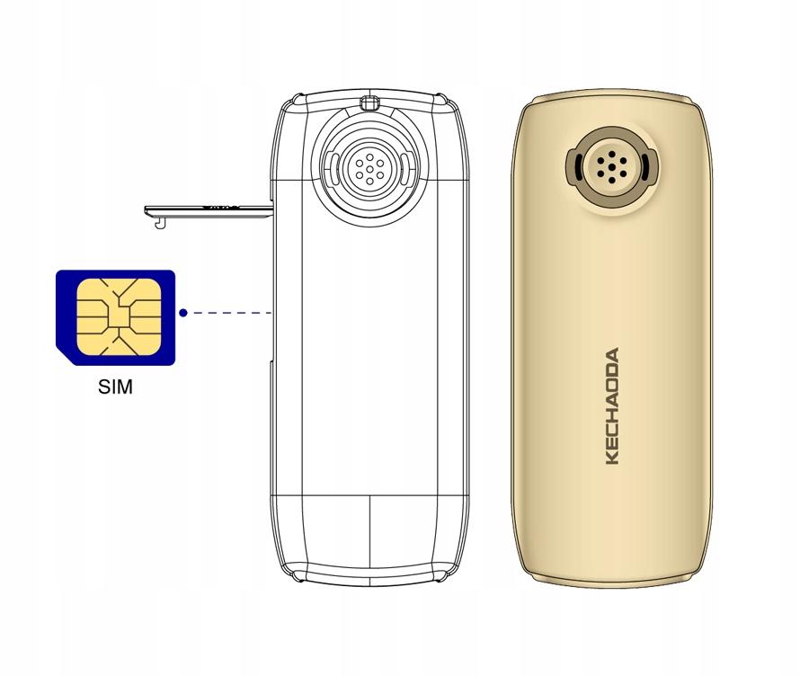MIKRO TELEFON GSM zmiana głosu SIM Typ Telefon komórkowy