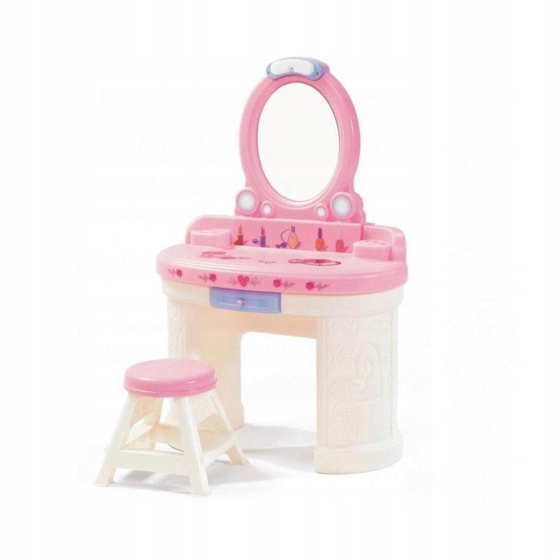KROK2 Toaletný stolík pre dievča so zrkadlom s osvetlením