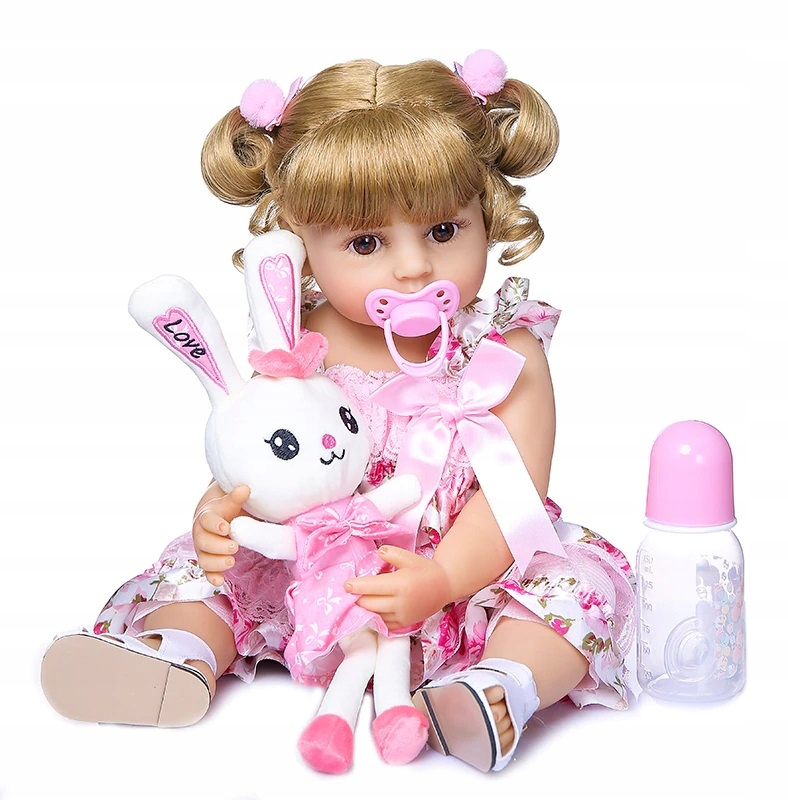 Bábika Doll Girl REBORN 55cm príslušenstvo