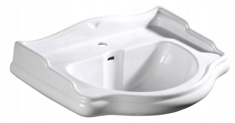 Kerasan Retro závesné umývadlo 1 otvor 69 biela