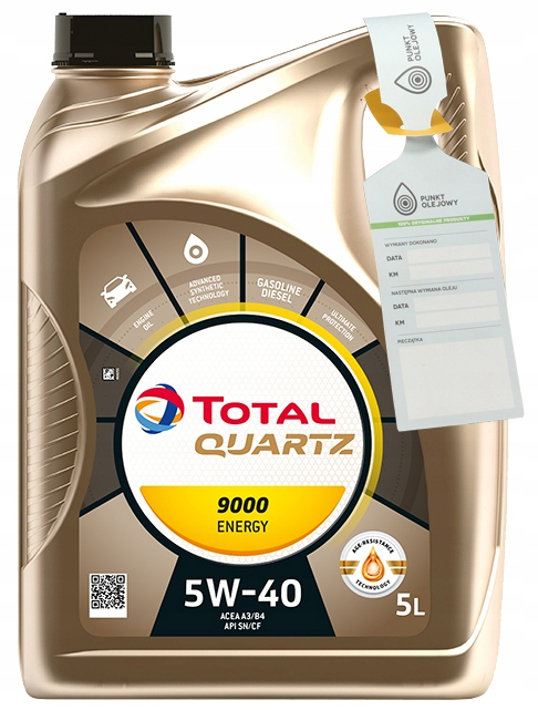 TOTAL QUARTZ 9000 ENERGY 5W40 - 5L + БЕСПЛАТНО