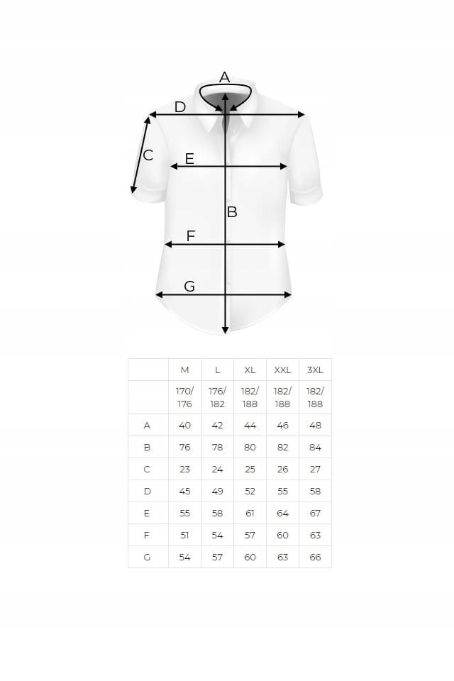 Koszula Męska granatowa wzorki krótki rękaw K990 9018348355  RzrOK