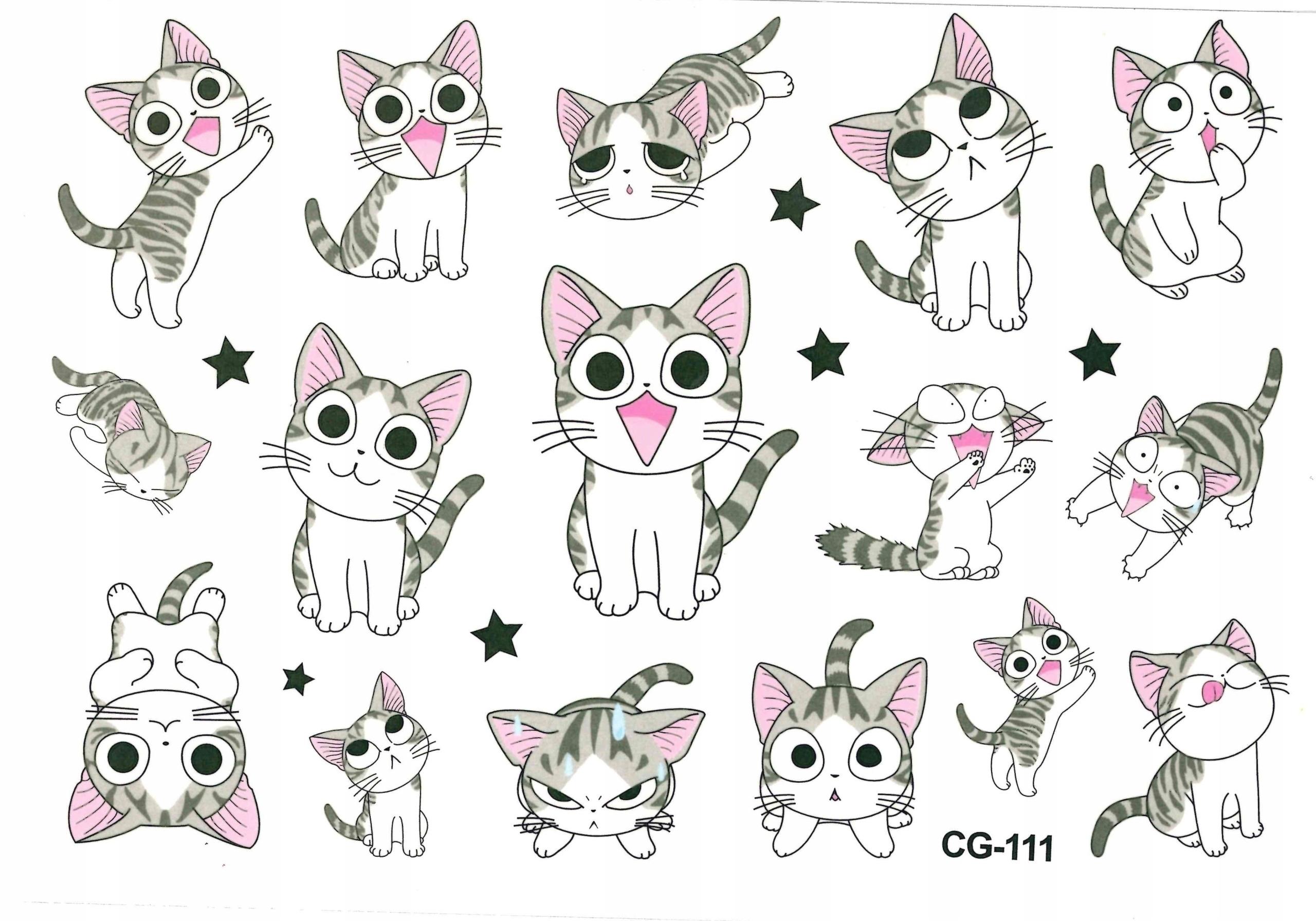 Tatuaże zmywalne dla dzieci KOTKI CG111