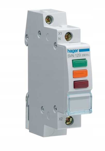 HAGER Lampka modułowa 3F 3-kolory 230-400V SVN129