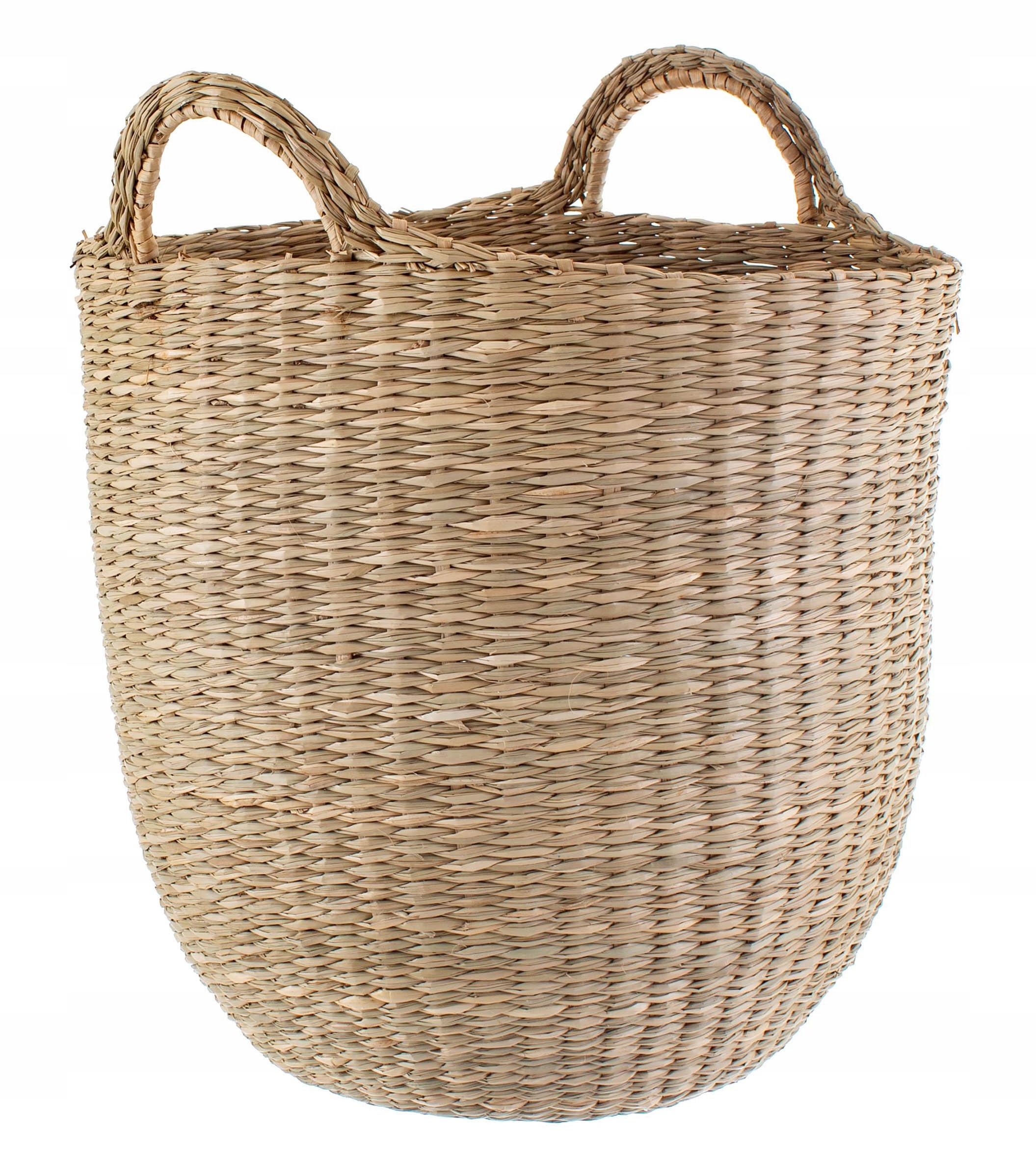 Kosz koszyk ręcznie pleciony z trawy morskiej 30cm