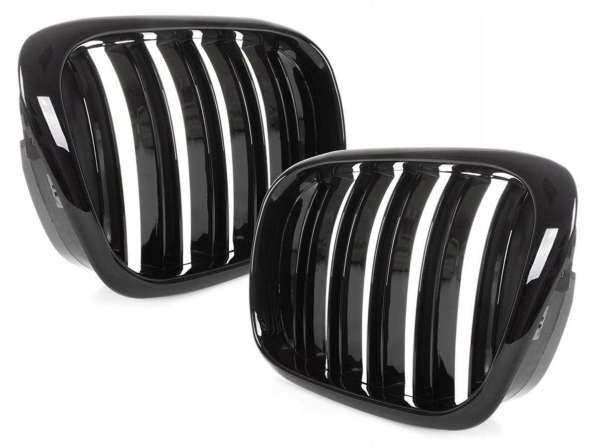 black глянцевая решетка гриль почки bmw 5 e39 lift 00-