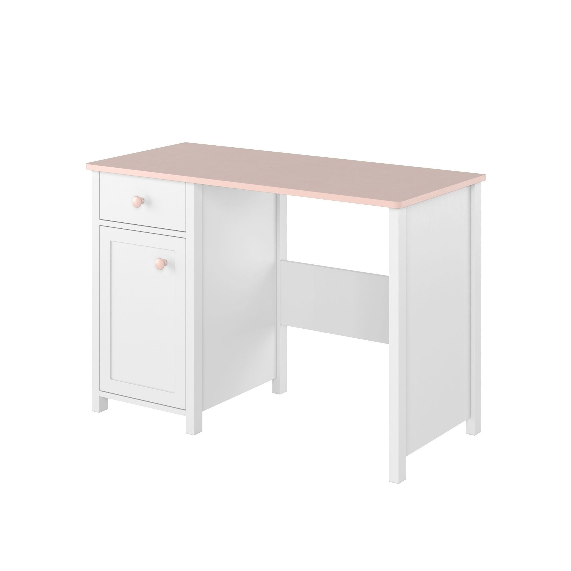 Белый стол для девочки с ящиком Luna