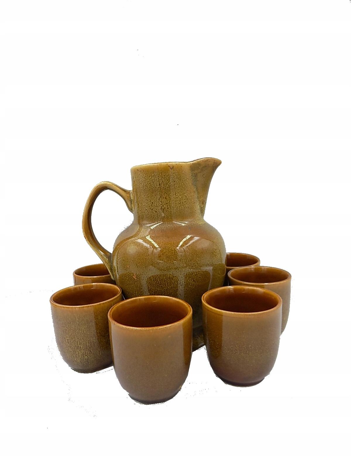 zestaw do napojów Ceramika MIROSTOWICE Głuszec PRL