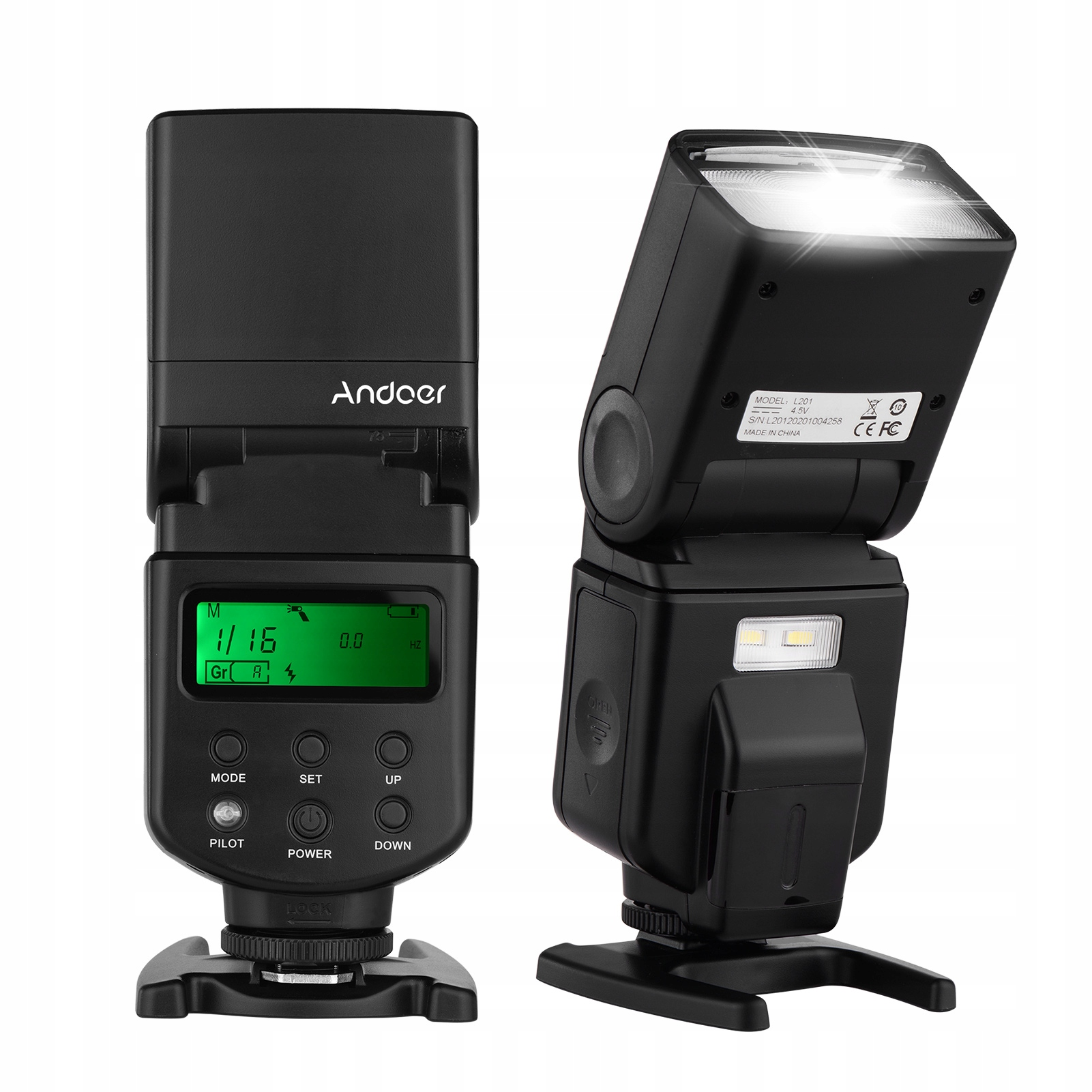 Andoer Uniwersalna lampa błyskowa Speedlite GN40