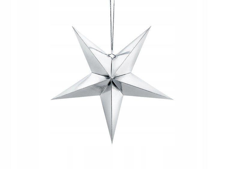 Gwiazda papierowa, 45cm, srebrny