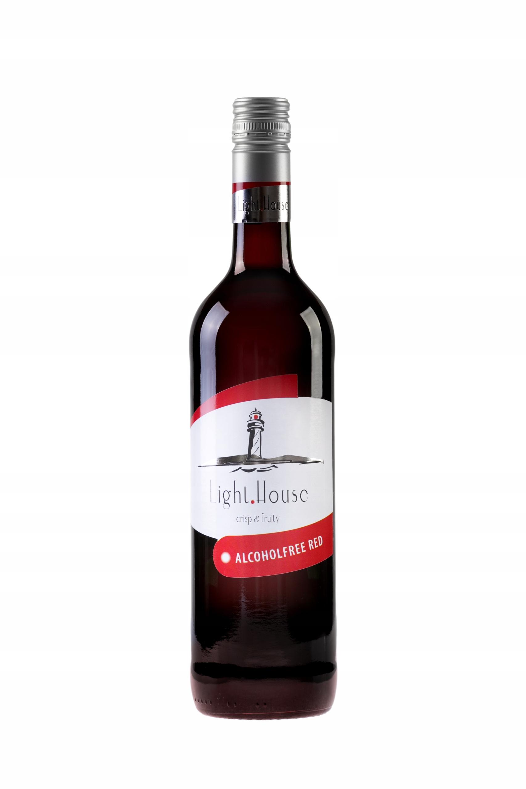 Light House Red 0,75l Wino 0% czerwone półsłodkie